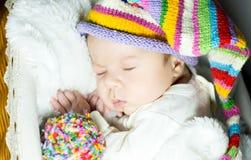 New born baby. A sleep of the new born baby Royalty Free Stock Image