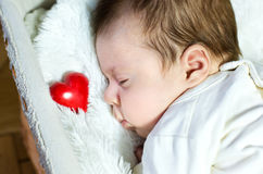 New born baby. A sleep of the new born baby Stock Images