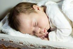 New born baby. A sleep of the new born baby Royalty Free Stock Photo