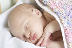 Sleep of newborn Stock Images