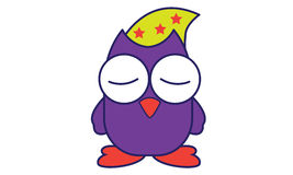 Sleep Owl. Illustration of Sleep Owl Logo Royalty Free Stock Photo