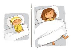 Sleep Pattern Newborn VS Adult royalty free stock photo