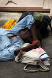 Sleep in Poverty Stock Photo