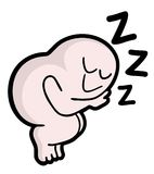 Sleep puppet. Creative design of sleep puppet stock illustration