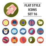 Sleep and rest set icons in flat style. Big collection of sleep and rest vector symbol stock illustration Royalty Free Stock Image