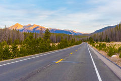 Sleep Ridge Road, Rocky Mountain National Park stock fotografie