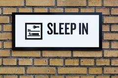 Sleep in sign Stock Photo