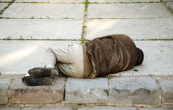Sleep on the street Royalty Free Stock Image