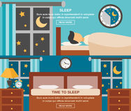 Sleep Time Banner Royalty Free Stock Images
