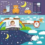 Sleep time banners Royalty Free Stock Photo