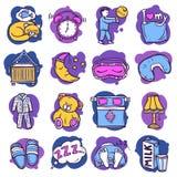 Sleep Time Icons Royalty Free Stock Photo