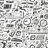 Sleep time - seamless backgound Royalty Free Stock Photos