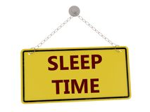 Sleep time sign. With chain isolated on white background ,3d rendered stock illustration