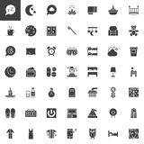 Sleep time vector icons set Stock Images