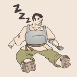 Sleep warrior Stock Image
