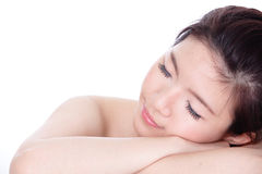 Sleep Woman close up portrait Royalty Free Stock Photography