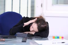Sleep at Work Stock Photo