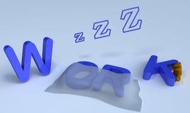 Sleep work. Background picture of sleeping work Stock Illustration
