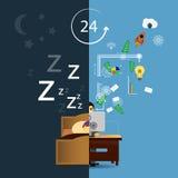Sleep & work times Royalty Free Stock Photos