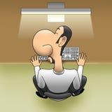 Sleep on workplace Stock Image