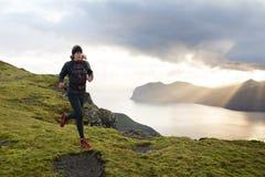 Sleepagent die in de Faeröer lopen royalty-vrije stock fotografie