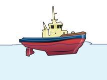 Sleepboot stock illustratie