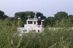 Sleepboot op de Rivier van de Mississippi stock foto's