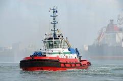 Sleepboot in Rotterdam stock afbeeldingen