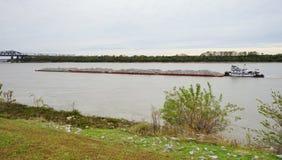 Sleepbootboot op de rivier van de Mississippi Stock Fotografie