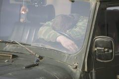 Sleepeing Mann lizenzfreies stockbild