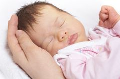 Sleeper baby Stock Photo