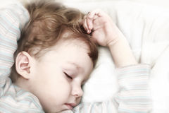 Sleeper child Stock Photo