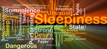 Sleepiness background concept glowing Stock Photography