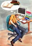 Sleeping stock illustration