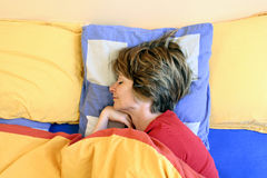 Sleeping. Woman sleeping Royalty Free Stock Photography