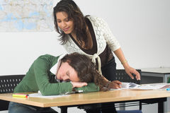 Is she really sleeping? Stock Photo