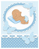 Sleeping African baby boy Royalty Free Stock Images
