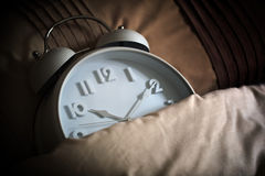 Sleeping alarm clock royalty free stock photos