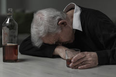 Sleeping after alcohol Stock Image