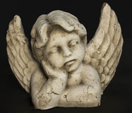 Sleeping Angel. Statue Royalty Free Stock Images