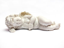 Sleeping angel - figurine Stock Images