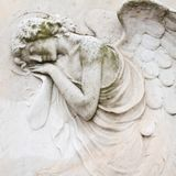 Sleeping angel relief Stock Image