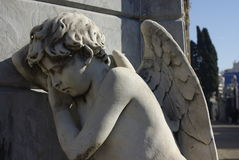 Angel statue at Cementerio de la Recoleta in Buenos Aires. A sleeping angel statue at Cementerio de la Recoleta in Buenos Aires, Argentina Stock Photography