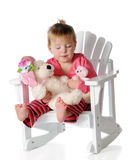 Sleeping with Babies royalty free stock photos