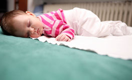 Sleeping baby 05. A sleeping new born baby Stock Images