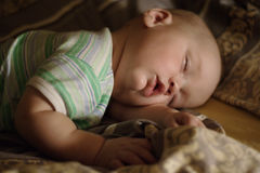 Sleeping baby. Sleeping 9 month old baby Stock Photo