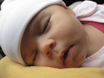 Sleeping baby. Face of a sleeping baby girl Royalty Free Stock Image