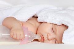 Sleeping baby. Image of sleeping baby girl Stock Photography