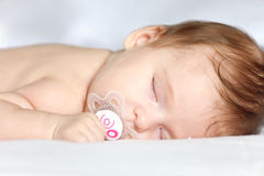 Sleeping baby. Image of sleeping baby girl Royalty Free Stock Image