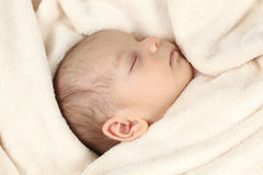 Sleeping baby Royalty Free Stock Photos